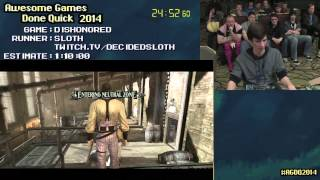 Dishonored :: Live SPEED RUN (0:49:33) by Sloth #AGDQ 2014