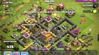 Epic Battle - 683k resource raid - Clash of Clans - 1 star