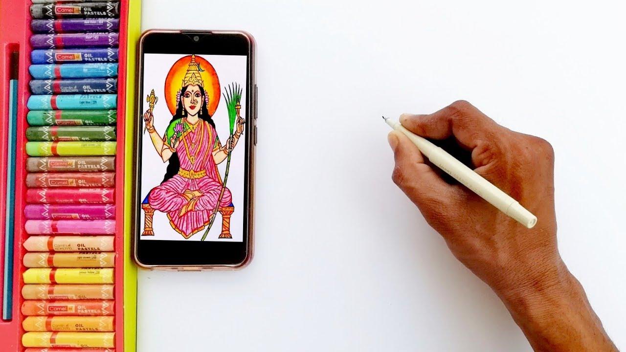 Lalitha Parameswari Easily Drawing | How to Draw Lalitha Parameswari Step By Step | By Drawing Art