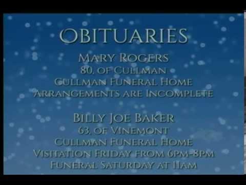 Today's Obituaries - November 27, 2014