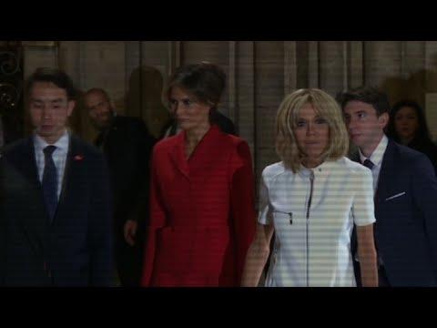 Melania Trump en visite à Notre-Dame avec Brigitte Macron
