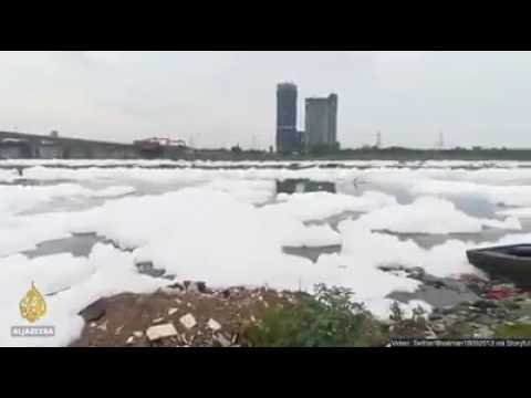 INDIA'S MOST POLLUTED RIVER IS YAMUNA .THIS RESULTS AFTER RAINFALL