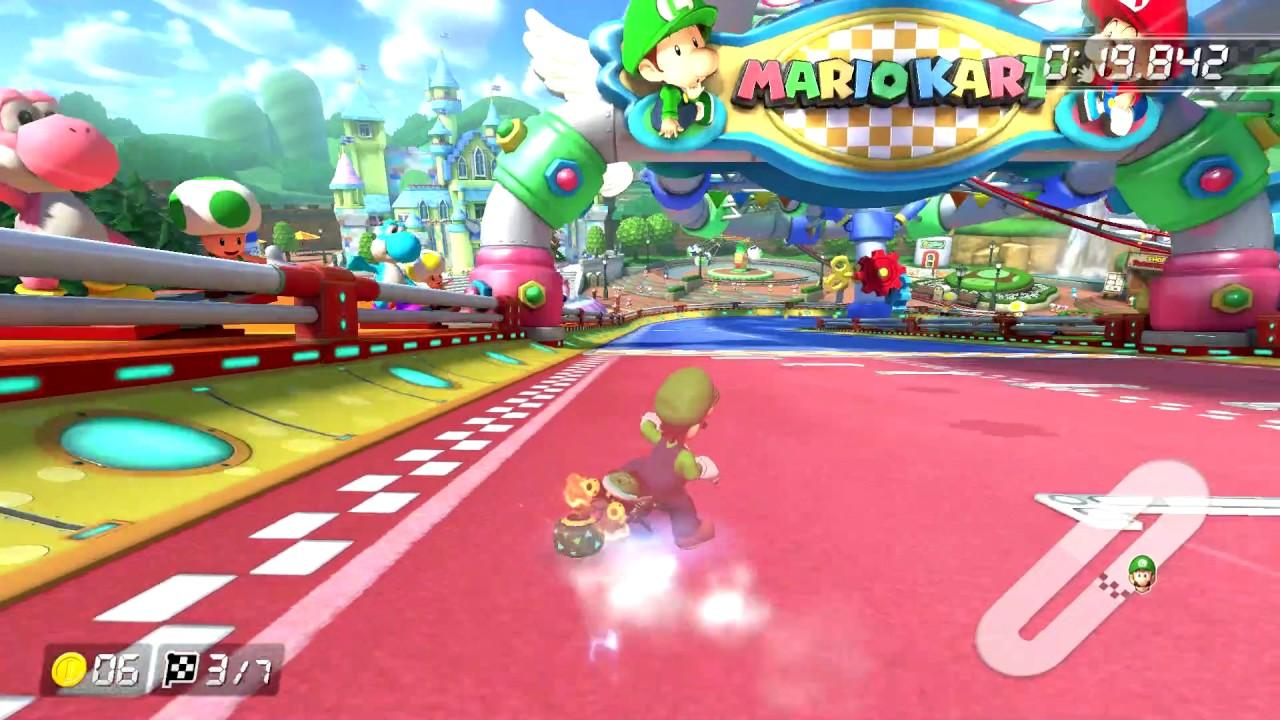 Baby Mario Mario Kart 8: GCN Baby Park [200cc]