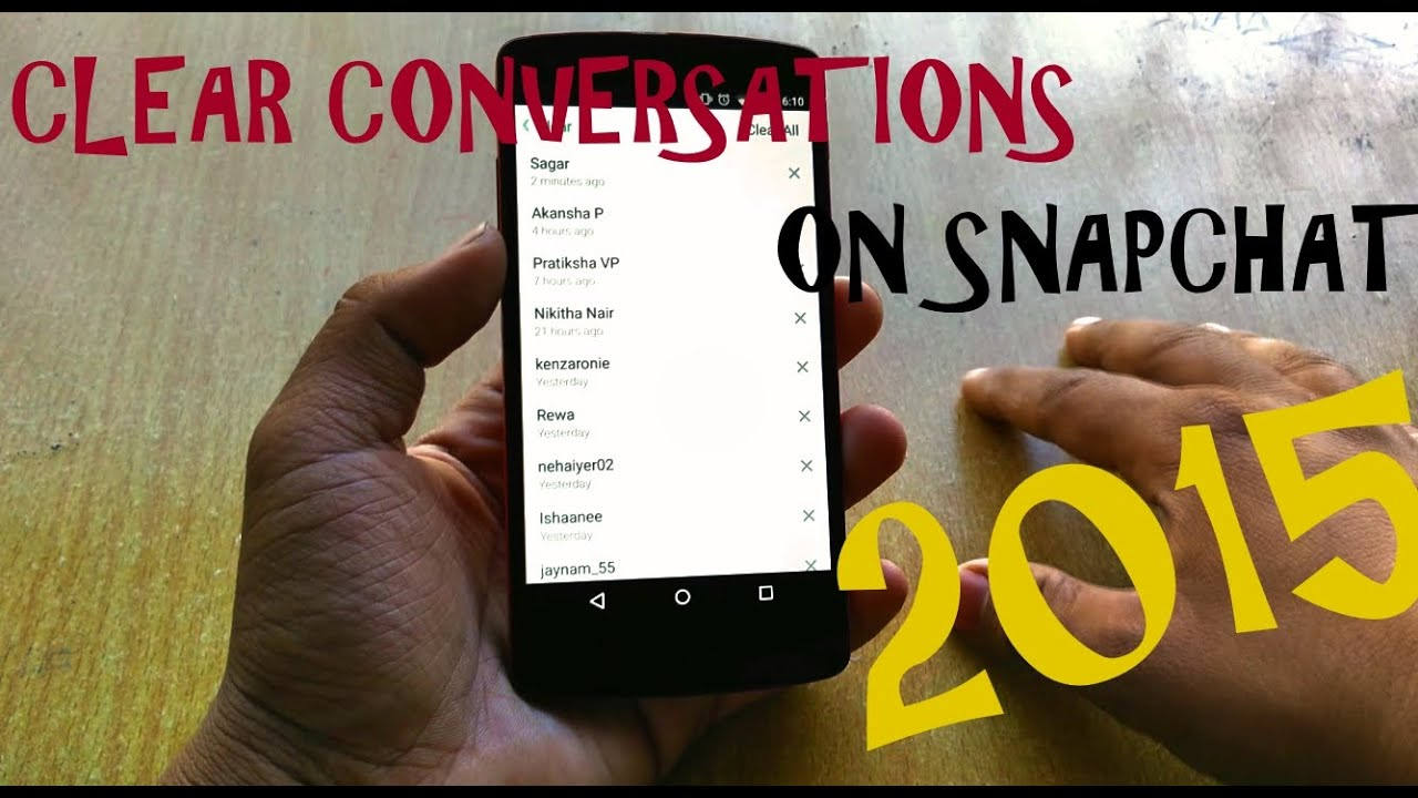 How to clear conversations on snapchat youtube how to clear conversations on snapchat ccuart Choice Image
