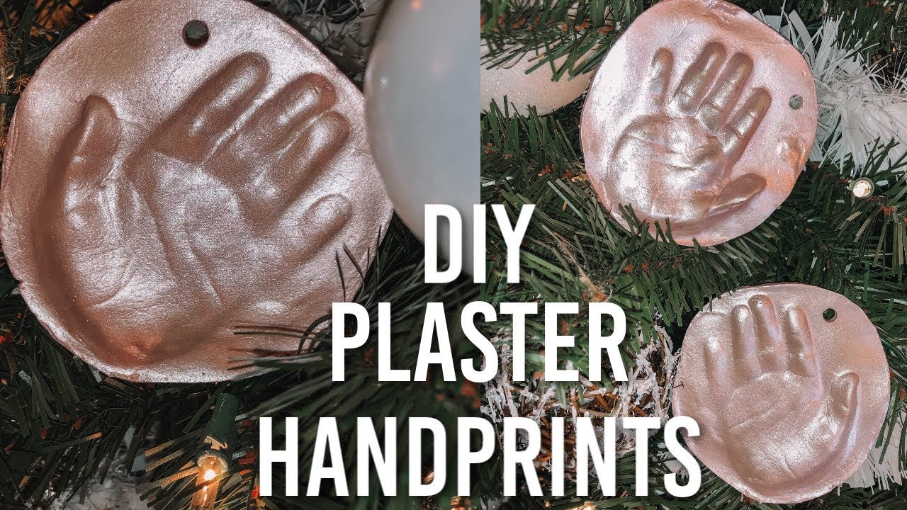 DIY HANDPRINT ORNAMENT | PLASTER