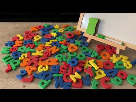 Magnetic Letters And Numbers With Board For Kids Preschool