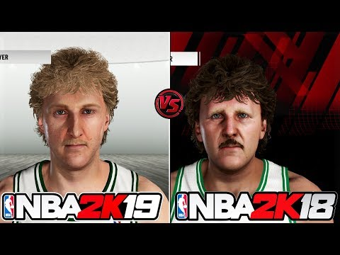 NBA 2K19 vs NBA 2K18 Legends Face/Graphics Comparison