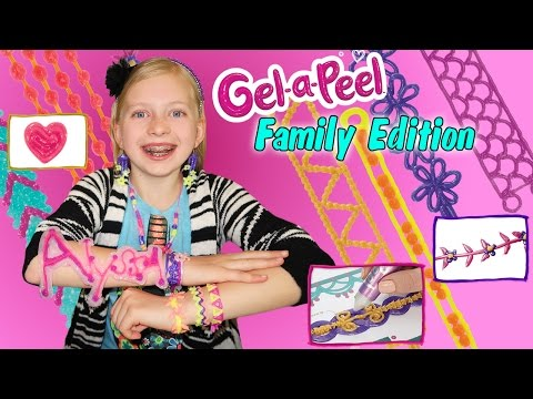 Gel-A-Peel DIY Craft Time    3D Sparkle Bead Design Station, Making Earrings & Jewelry Out Of GEL!