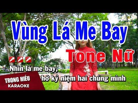 Karaoke Vùng Lá Me Bay Tone Nữ Nhạc Sống   Trọng Hiếu