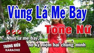 Karaoke Vùng Lá Me Bay Tone Nữ Nhạc Sống | Trọng Hiếu