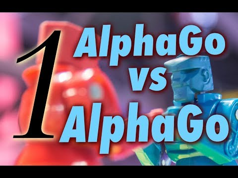 AlphaGo vs. Alphago with Michael Redmond 9p: Game 1