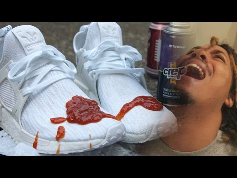 HOW TO KEEP ALL WHITE SHOE CLEAN !!! ALMOST MESSED UP !!!