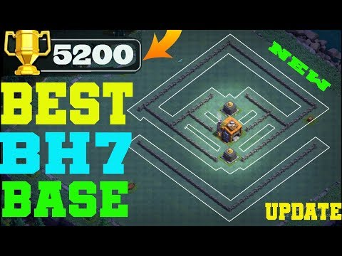 BEST BH7 BASE 2019 !! EASY PUSH TO 5200 TROPHY | BUILDER HALL 7 BASE | REPLAY PROOF | CLASH OF CLANS