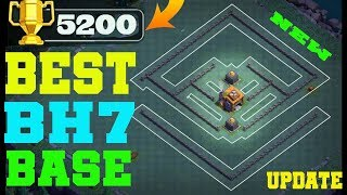 BEST BH7 BASE 2018 !! EASY PUSH TO 5200 TROPHY | BUILDER HALL 7 BASE | REPLAY PROOF | CLASH OF CLANS