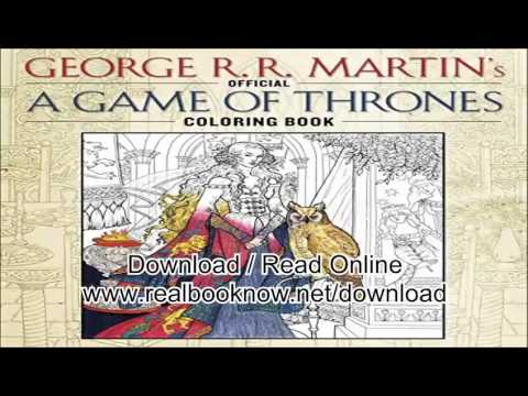 Books Of The Official A Game Thrones Coloring Book Song Ice And Fire