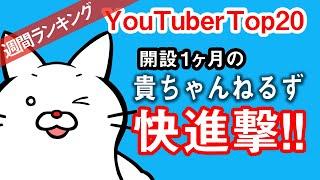 【YouTuberランキング】2020年7月5週目再生回数 Top20週間ランキング  [2020/8/1 集計]【動画視聴回数】