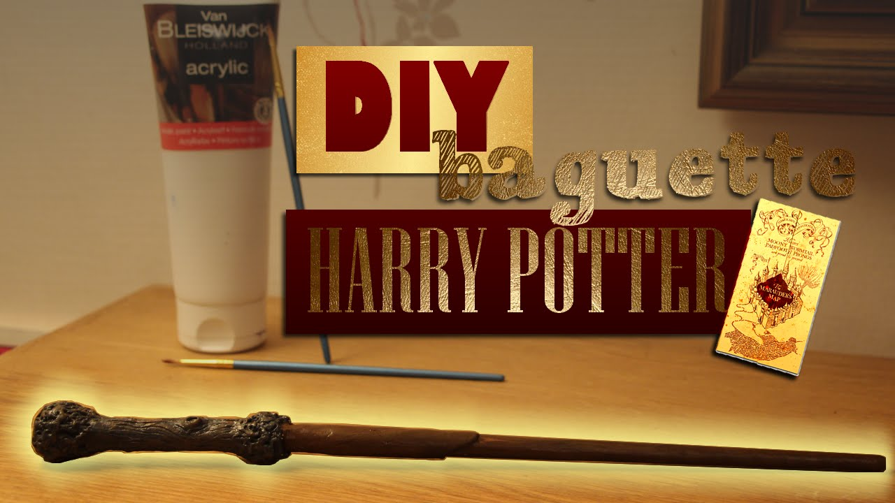 Diy comment faire la baguette de harry potter youtube for Baguette de bois