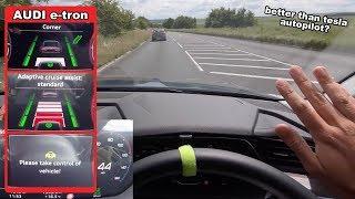 Audi e-tron 'AI Adaptive Assist' Full Test   Better Than Tesla AutoPilot?