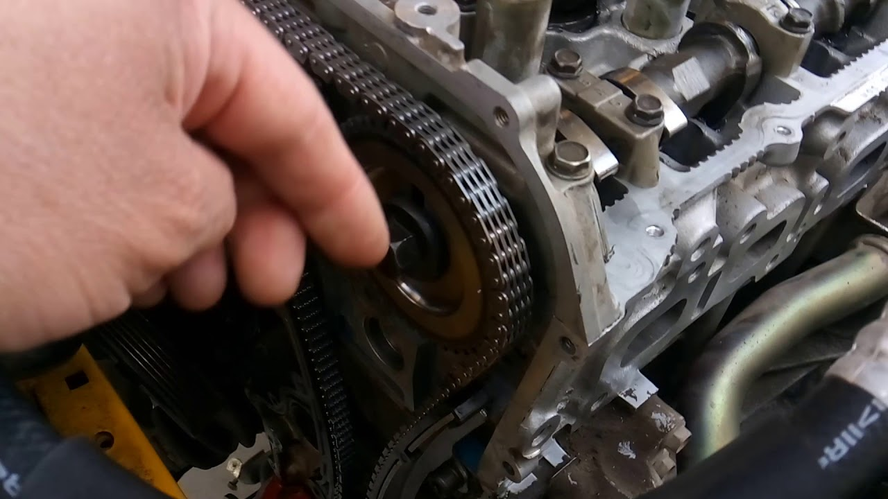 Nisan Sentra 2 5l timing chain install information