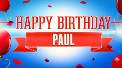 Happy Birthday Paul