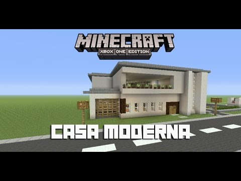 Tutorial casa moderna minecraft xbox one 360 ps3 ps4 for Tutorial casa moderna grande minecraft