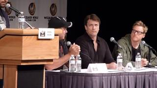 Firefly/Serenity cast walks on stage - Wizard World Comic Con St. Louis
