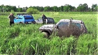 Чирок и четыре Нивы дорвались до грязи. (NIVA vs Jeep Cherokee)