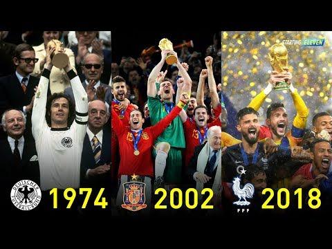 WAJIB KAMU TAHU Ini Pemenang FIFA Piala Dunia Dari Tahun 1930-2018 ● Starting Eleven