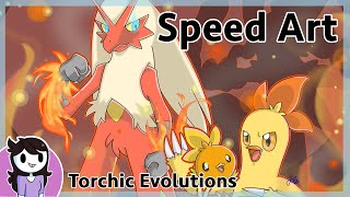 Speedart: Torchic Evolutions