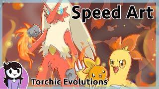 Speedart: Torchic Evolutions