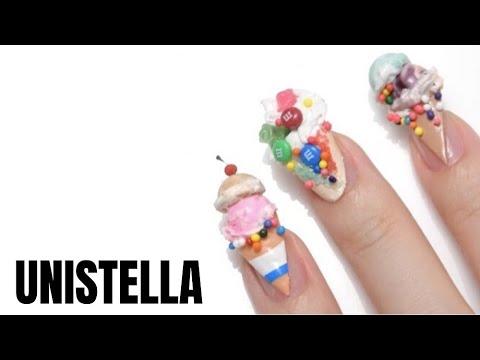 2020 New nail art  tutorial / 새로운 네일 하우투 영상 / #vogueunistellahotnails /#3dicecreamnails thumbnail