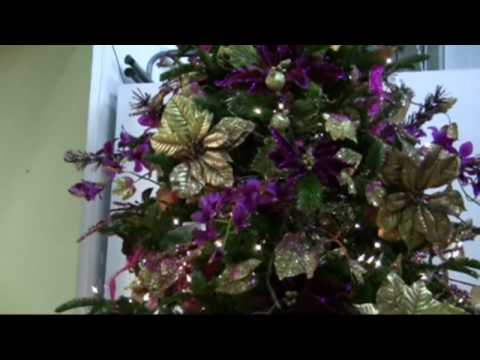 christmas trees decorating ideas - Christmas Tree Flower Decorations