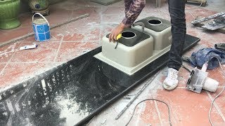 Granite Kitchen Countertop Installation Beautiful in American thumbnail