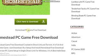 Homestead PC Game Free Download