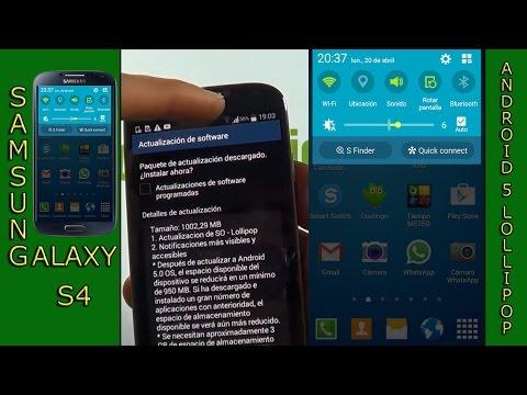 9704750263d6 Actualizar el Samsung galaxy S4 a android 5.0.1 Lollipop - YouTube