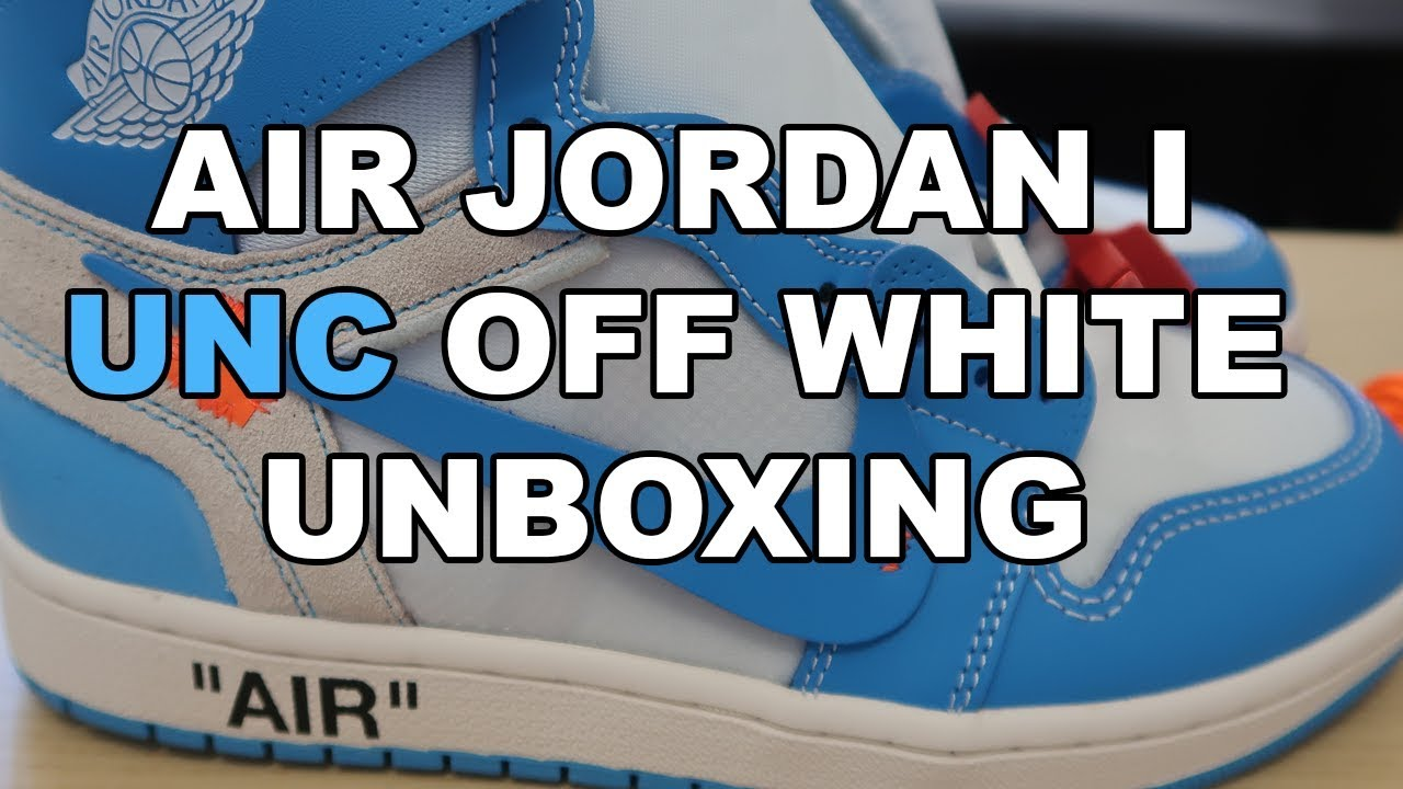 Nike Air Jordan 1 UNC Off White Unboxing - YouTube a03e1b16f7