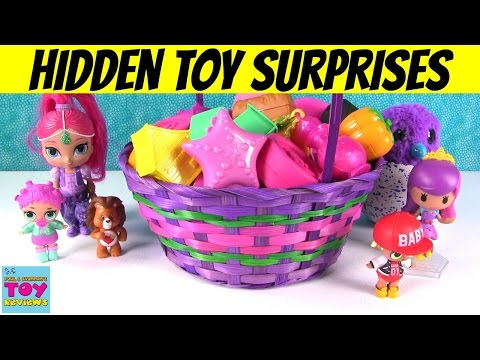 Thumbnail: Giant Basket Of Surprise Eggs Openings Disney Frozen MLP Shopkins Fashems | PSToyReviews