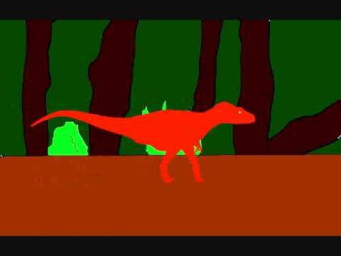 Albertosaurus Walk and roar test