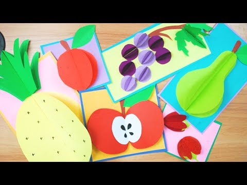 DIY 3D Fruits using Paper | Kids Craft