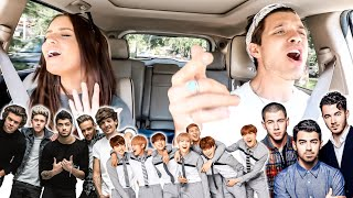 Boy Band Carpool Karaoke! (BTS, 1D, Jonas Brothers, etc!)