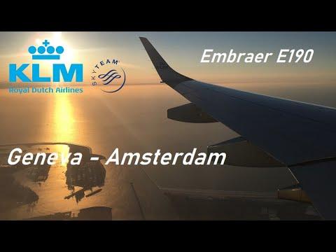 ✈️ FLIGHT REPORT ✈️ KLM Cityhopper - Geneva to Amsterdam - Embraer E-190