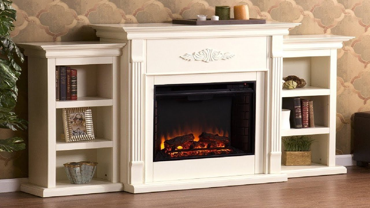 Tennyson Bookcase Electric Fireplace Southern Enterprises Tennyson Electric Fireplace Thereviewio