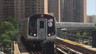 IND/BMT Subway: Manhattan and Coney Island bound (F) and (Q) Trains @ West 8th Street (R46, R160)