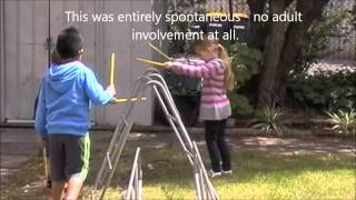 Children Exploring Playground Equipment As Musical Instruments - Child's Play Music