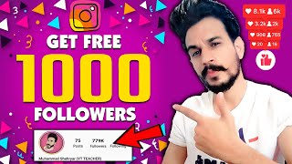 GET FREE 1000 INSTAGRAM FOLLOWERS (2020) | How to increase followers on Instagram | INSTAGRAM LIKES
