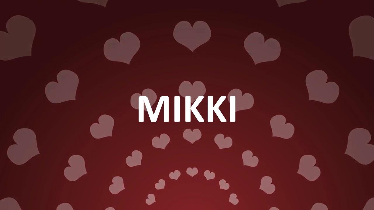 Happy birthday mikki