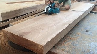 How To Build TV Stand From Monolithic Hardwood Extremely Easy // Amazing Woodworking Project!!!