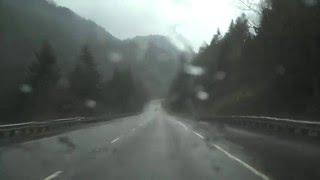 Interstate 84 westbound near the Bonneville Dam in Oregon