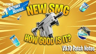 *NEW* Fortnite Burst SMG Gameplay | v9.10 Patch Notes