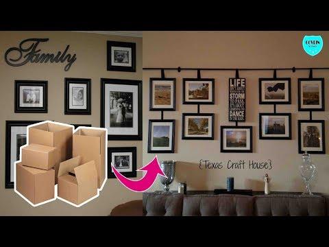 KEREN!! Membuat Galery Bingkai Foto Dinding Hias dari Kardus bekas   DIY Wall decoration